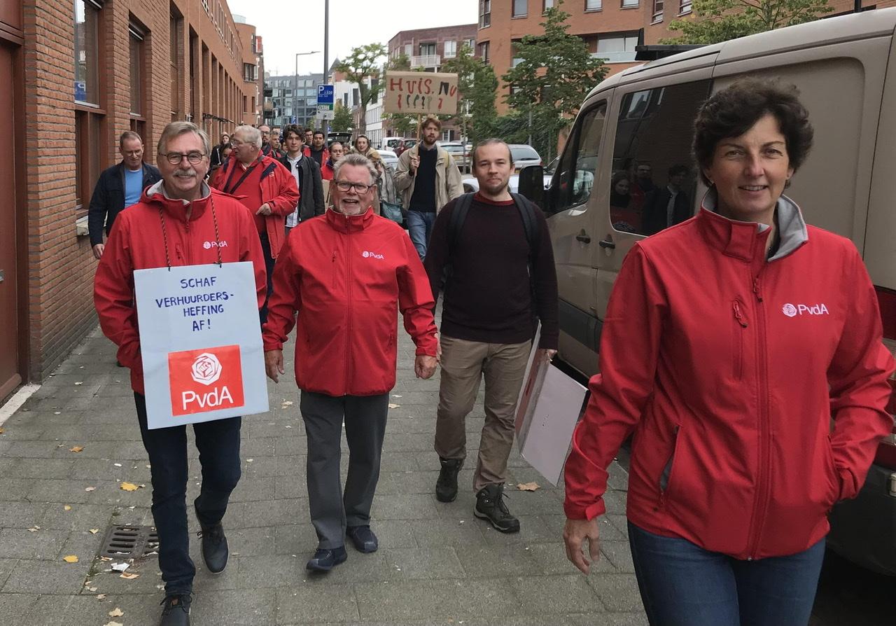 PvdA Nissewaard aanwezig bij landelijke woondemonstratie